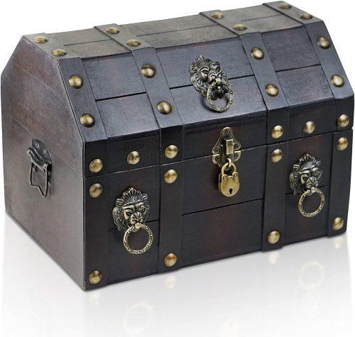 Cofre del Tesoro con candado Pirata
