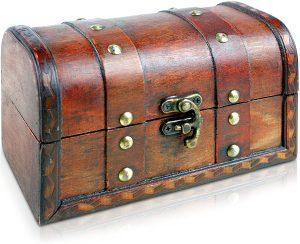Caja de Madera Cofre del Tesoro Pirata