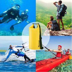 Bolsa Estanca Impermeable 10L/20L Set de Mochila Estanca con Funda de Móvil y Bolsa de Cintura, Bolsa Seca para Playa y Deportes al Aire Kayak...