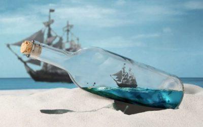 barco dentro de botella